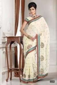 Plain Bhagalpuri Silk Saree