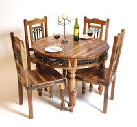 Sheesham Wood Round Dining Table