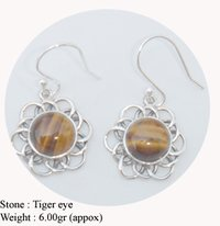 Tiger Eye Design Earring