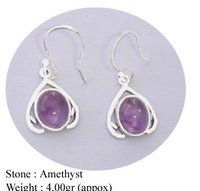 Fancy Amethyst Stone Earring