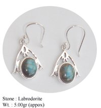 Labrodorite Stone Traditional Earring