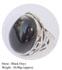 Black Onyx Fashion Design Ring