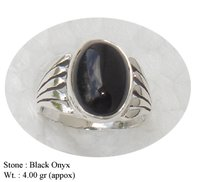 Black Onyx Finger Ring