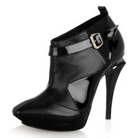 Pin-Heeled Nappa Leather Ankle Boots (Ltyk0008)