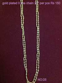 Gold Plated Double Line Chain