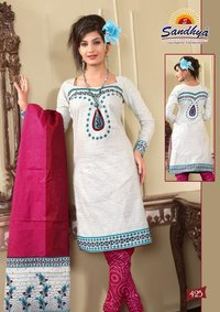 Cotton Printed Unstich Suit Dupatta