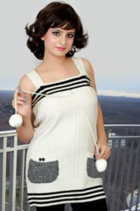 White Woolen Top