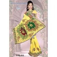 Velvet Yellow Saree