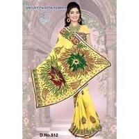 Velvet Yellow Saree