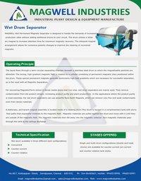 Wet Drum Magnetic Separator