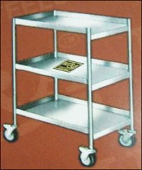 Durable Stainless Steel Service Trolley