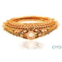 Fashion Designer Brass Bangle