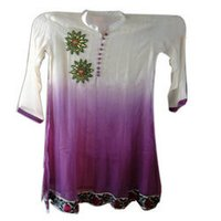 Designer Bollywood Style Chiffon Double Dyed Ladies Kurti