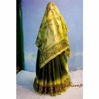 Yellow Madhubani Sarees