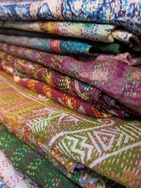 Authentic Indian Vintage Silk Shawls