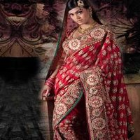 Designer Wedding Sarees With Duppata