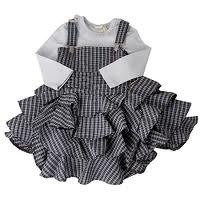 Girls Cotton Check Frock