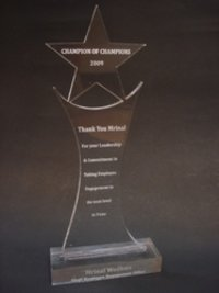 Star Laser Acrylic Custom Trophy