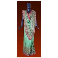 Velvet Finishing Saree