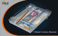 Stainless Sheet Cutlery Basket