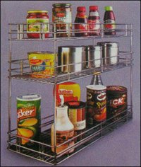 Stainless Steel Masala Pullout Basket