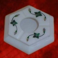 Designer White Stone Ashtrays