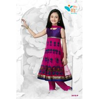 Kids Zari Churidar Suits
