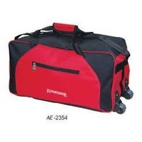 Red Black Luggage Bags