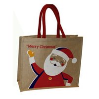 Santa Printed Christmas Bag