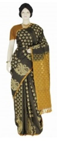 Designer Black Kanchipuram Saree
