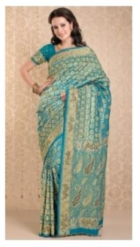 Swarnika Embroidery Saree