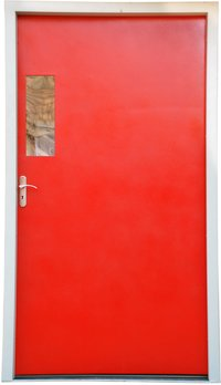 Red Color Industrial Doors