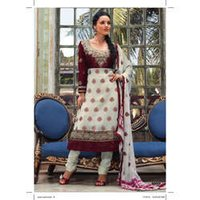 Ladies Embroidered Silk Suit