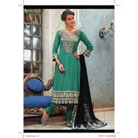 Ladies Designer Green Suit