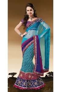 Brocade Fabric Embroidered Saree