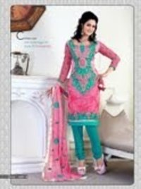 Pure Chanderi Silk Churidar Suit