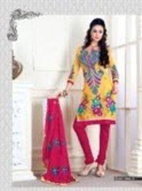 Pure Tusser Silk Churidar Suits