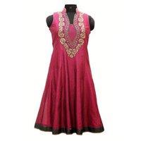 Ladies Embroidered Chanderi Suit