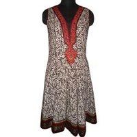 Printed Embroidered Cotton Suit