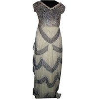 Black Design Silver Indo Western Dress