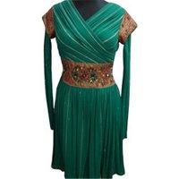 Green Indo Western Dress