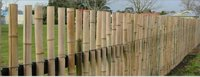 Half-Split Bamboo Wall
