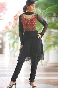 Ladies Net Churidar Suits