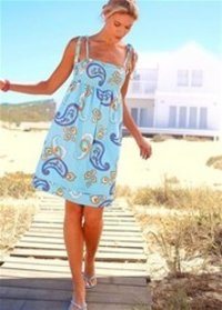 Ladies Printed Sleeveless Dress