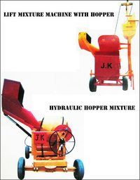 Lift Mixture Machine With Hopper And Hydraulic Hopper Mixers