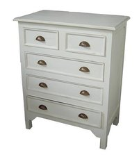 White Painted Wooden Drawer Chest