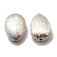 Silver Brushed Beads