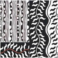 Black And White Printed Silk Sarees