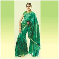 Zari Printed Silk Saree