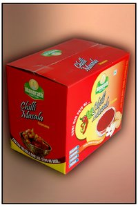 Small Box With 12 Jars Of Chilli Masala